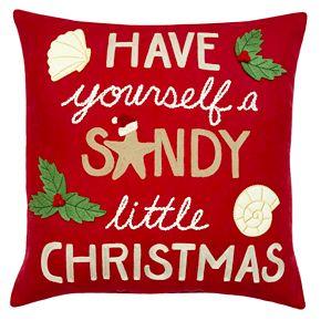 St. Nicholas Square® Red Sandy Christmas Pillow