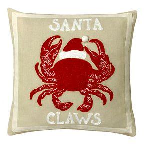 St. Nicholas Square® Linen Santa Claws Pillow