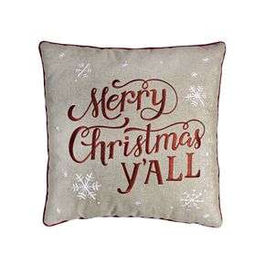St. Nicholas Square® Linen Merry Christmas Y'all Pillow