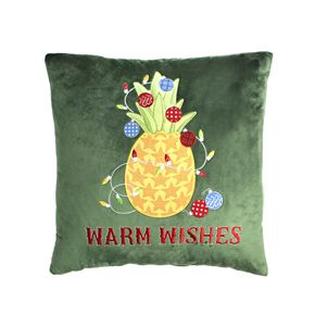 St. Nicholas Square® Green Warm Wishes Pineapple Pillow