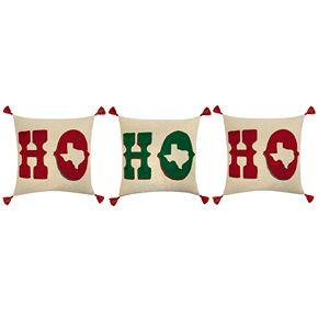 St. Nicholas Square® Linen HO HO HO Texas Pillow Set