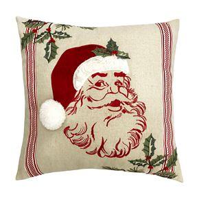 St. Nicholas Square® Linen Santa Pillow