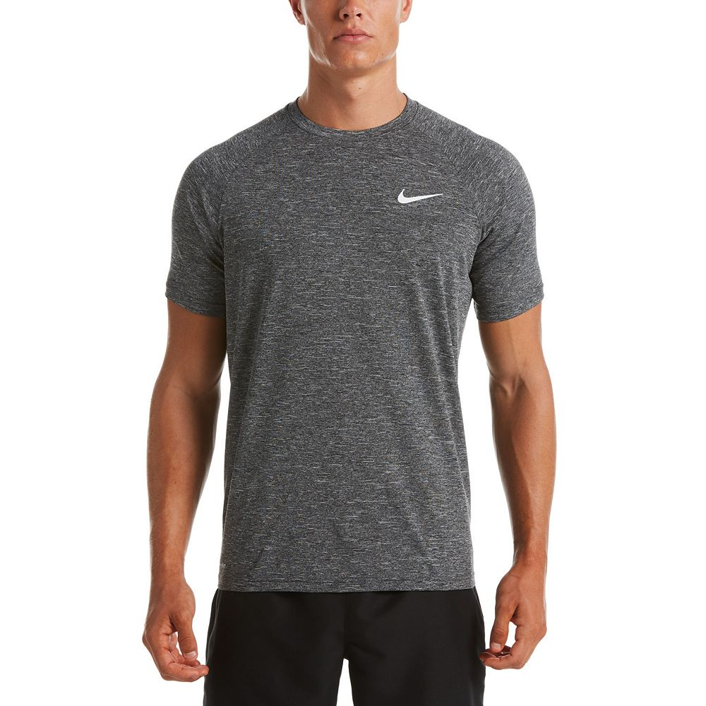 Men's Nike Dri-FIT UPF 40+ Heathered Hydroguard Swim Tee