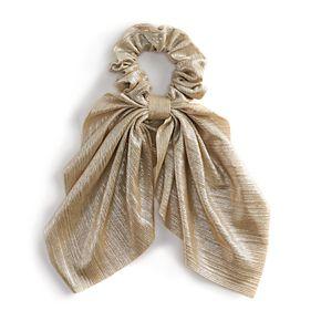 Metallic Satin Bow Scrunchie