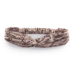 Patterned Fabric Twist Decorative Hairband