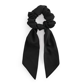 Black Bow Scrunchie