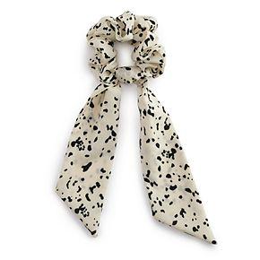 Animal Print Bow Scrunchie