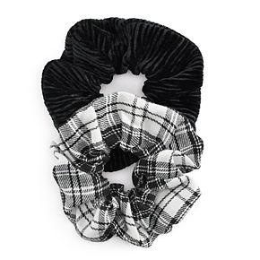 Plaid & Corduroy Scrunchies (Set of 2)