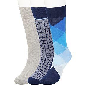 Men's Haggar® Comfort Patterned Crew Socks (3 pack)