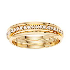 LC Lauren Conrad Pave Ring Set