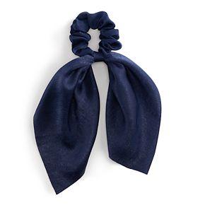Draped Satin Bow Scrunchie