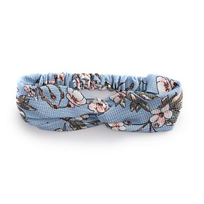 Juniors' Flower Printed Top Knot Headwrap