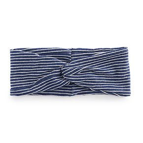 Juniors' Striped Twist Front Headwrap