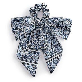 Juniors' Paisley Print Bow Scrunchie