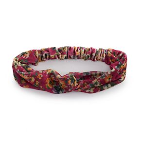 Juniors' Printed Top Knot Headwrap