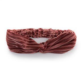 Juniors' Corduroy Front Knot Headwrap