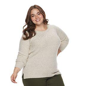 Plus Size EVRI Pointelle Sweater