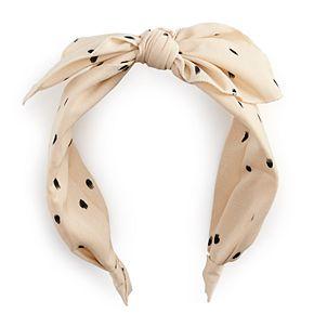 Polka-Dot Bow Headband