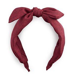 Red Corduroy Bow Top Headband