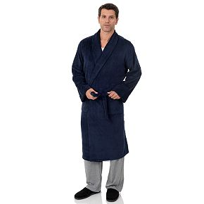 Men's Chaps Drop Needle Fleece Robe