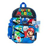 Kids Super Mario Mega 5-Piece Backpack Set