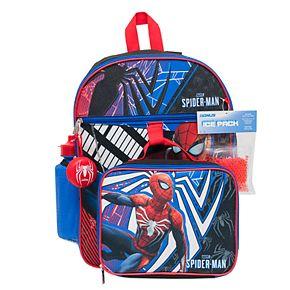Marvel Spider-Man 5-Piece Backpack Set