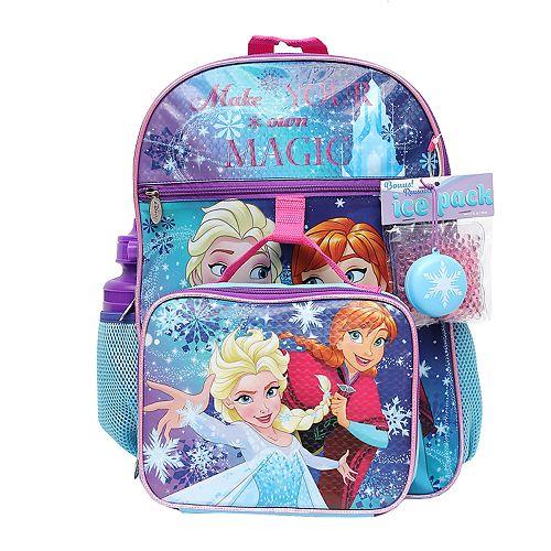 Disney's Frozen Anna & Elsa 5-Piece Backpack Set