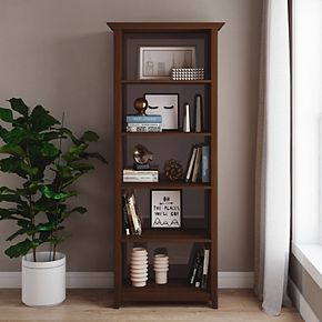 Simpli Home Amherst Transitional 5-Shelf Bookcase