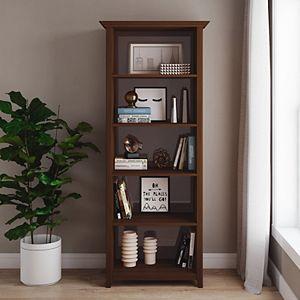 Simpli Home Amherst Transitional 5-Shelf Bookcase