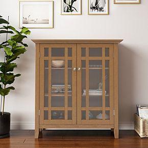 Simpli Home Bedford Rustic Medium Storage Cabinet