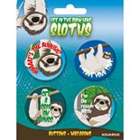 GAMAGO Sloths Button 4 Pack