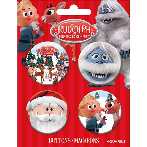 GAMAGO Rudolph Button 4 Pack