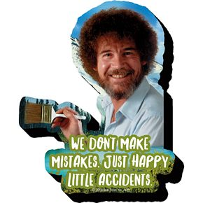 GAMAGO Bob Ross Little Accidents Funky Chunky Magnet