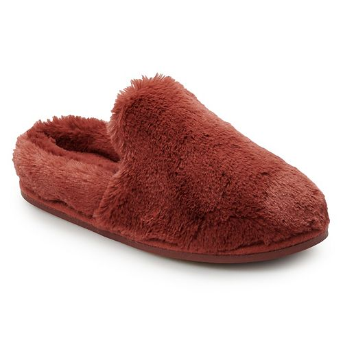 Women's LC Lauren Conrad Winter Home Faux Fur Clog Slippers