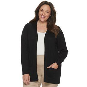 Plus Size Croft & Barrow® Essential Open Front Cardigan