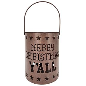 "St. Nicholas Square® Texas ""Y'ALL"" Hurricane Candle Holder"