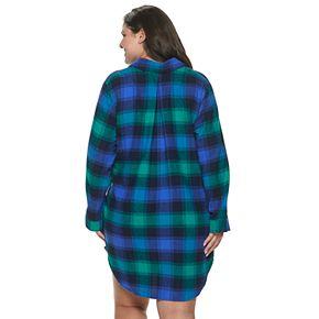 Women's Plus Size SONOMA Goods for Life? Flannel Sleep Shirt