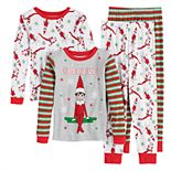 Boys 4-10 Elf On The Shelf 4-Piece Pajama Set