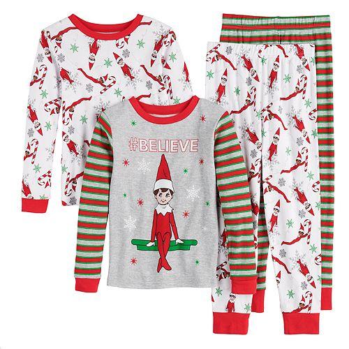 Boys 4-10 Elf On The Shelf 4-Piece Pajama Set