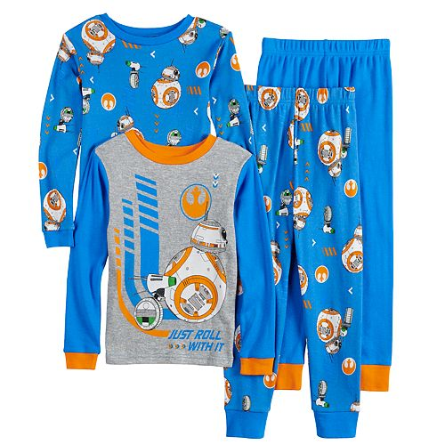 Boys 4-10 Star Wars Episode 9 Two Droids Tops & Bottoms Pajama Set