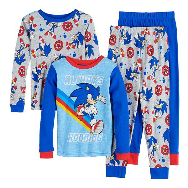 Boys 4 10 Sonic The Hedgehog Run 4 Piece Pajama Set