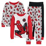 Boys 4-10 Marvel Spider-Man 4-Piece Pajama Set