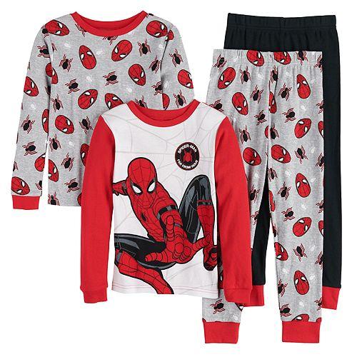 Boys 4-10 Marvel Spider-Man 4-Piece Pajama Set