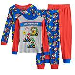 Boys 4-10 Nintendo Mario Kart 4-Piece Pajama Set