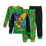 Boys 4-10 Teenage Mutant Ninja Turtles Ninja Power 4-Piece Pajama Set