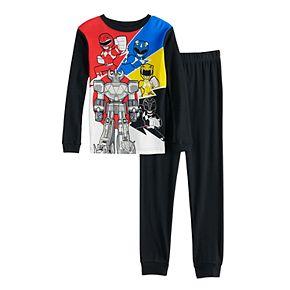 Boys 4-10 Power Rangers Top & Bottoms Pajama Set