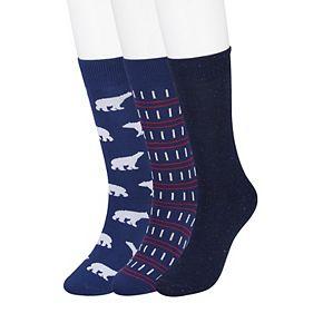 Men's SONOMA Goods for Life? Holiday Novelty Crew Socks (3-pack)