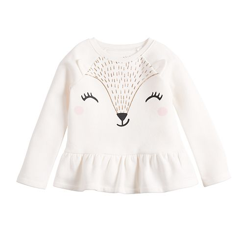 Toddler Girl Jumping Beans® Animal Graphic Long Sleeve Top