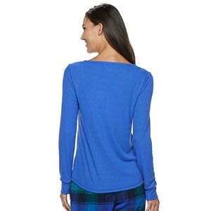 Women's SONOMA Goods for Life® Henley Pajama Tee