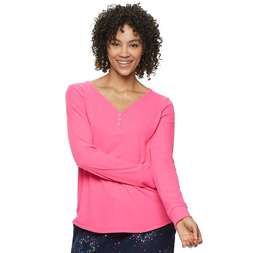 Women's SONOMA Goods for Life® Henley Pajama Tee